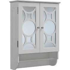 RunFine Mirrors 24 in. W x 9.25 in. D x 32 in. H Wall Mount Mirrored Wooden Cabinet in White RFBW12304