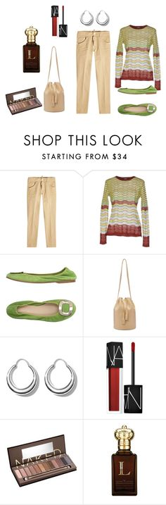 """""""Office Khaki"""" by cynthiahawthorne ❤ liked on Polyvore featuring Dsquared2, M Missoni, Andrea Morando, Building Block, All Blues, NARS Cosmetics, Urban Decay and Clive Christian"""