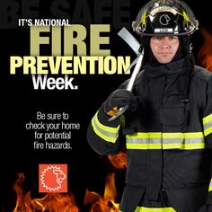 It's Fire Prevention Week. Be sure to check your home for potential fire hazards. | Share by LION