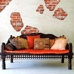 Best Brick And Plaster Wall Sticker Contemporary Wall 400 x 300