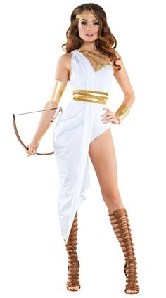 You'll be the sexiest huntress goddess in this Sexy Artemis costume featuring a…