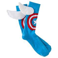 Men's Marvel The Avengers Captain America Wing Socks #AvengersAtTarget