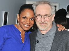 Photo of Steven Spielberg congratulates Porgy and Bess leading lady Audra McDonald. Jenny Anderson, Lead Lady, Steven Spielberg, American Actress, Tv Shows, Singer, Actresses, Actors, Concert