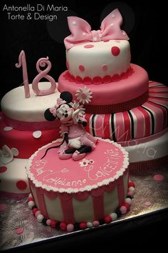minnie mouse pink cake
