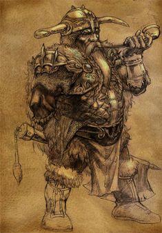 fantasy dwarfs | Kanamack the Dur'far (Dwarf )Warrior