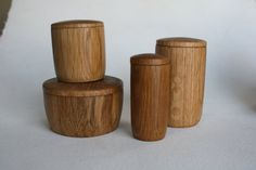 """These fine lidded bowls give new life to pallet wood headed for the burn pile. Available in 1.5"""", 2.25""""  and 3.5""""  wide styles. Not recommended for spices, definitely recommended for small objects and jewelry."""
