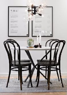 Visite privée | PLANETE DECO a homes world Dining Area, Kitchen Dining, Dining Chairs, Dining Room, Dining Table, Scandinavian Interior, Home Projects, Ottoman, Sweet Home