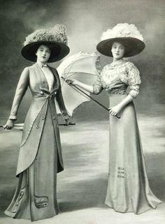 Toilette de promenade et robe pour les courses par Bernard, 1909