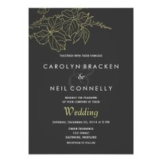 Modern Elegant Wedding Announcement Invitation