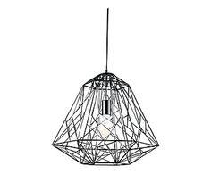 Lampadario in metallo e pvc Gea III nero - 50x120 cm