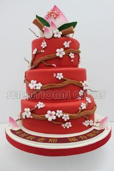 Longevity Cake Prosperity Chinese Cake Pinterest Cake - Birthday cake chinese style
