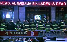 New York firefighters, many of whom lost friends in the 9/11 attacks, learn of Osama bin Laden's death [2011]