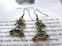 I love these earrings! They are from the chapter in Chamber of Secrets with Aragog!