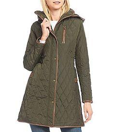 f6359732591 Lauren Ralph Lauren Faux-Leather-Trim Quilted Jacket Quilted Jacket
