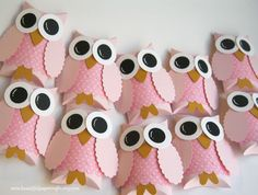 Owl Favor Boxes Baby Shower Decorations by BeautifulPaperCrafts