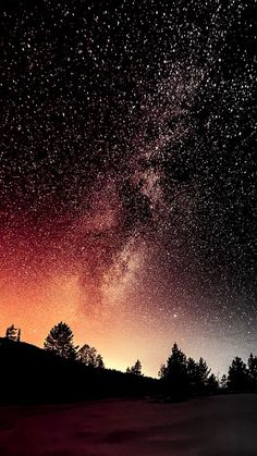 Beautiful night sky with stars - landscape Tumblr Wallpaper, Night Sky Wallpaper, Galaxy Wallpaper, Nature Wallpaper, Wallpaper Backgrounds, Computer Wallpaper, Phone Backgrounds, Iphone Wallpaper Stars, Unique Wallpaper