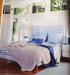 love the blue Bedroom Ideas, Blue, Furniture, Home Decor, Decoration Home, Room Decor, Home Furnishings, Arredamento, Interior Decorating