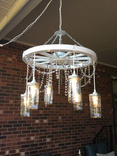 ON SALE!! A personal favorite from my Etsy shop https://www.etsy.com/listing/268476128/wagon-wheel-chandelier-on-sale