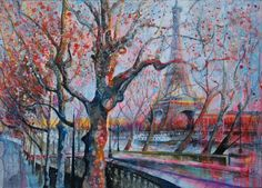 Autumn Walk, Paris by Blythe Scott