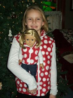 18'' American Girl Doll and Girl Matching Outfit. $30.00, via Etsy.