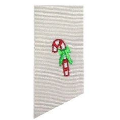 Tiny Single Candy Cane | Christmas | Machine Embroidery Designs | SWAKembroidery.com Band to Bow