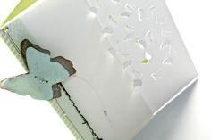 FlebbeArt karte mit Transparentpapier und ausgestanzten Schmetterlingen