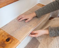 Our DIY Stair Makeover: Paint + Runner from @designsponge featuring #DashandAlbert's Birmingham Black Woven Cotton Rug: