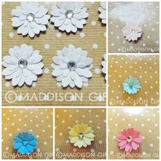 Flower Card Making Toppers Scrapbooking Embellishments Floral Decorative Paper Craft Supplies by MaddycraftsCo on Etsy