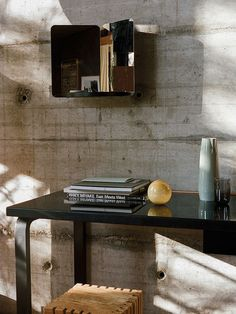 Create a cozy decor with playful statement-pieces Small Wooden Shelf, Wooden Shelves, Design Studio, House Design, Design Shop, Copper Pendant Lights, Black Shelves, Unique Mirrors, Interior Design Inspiration