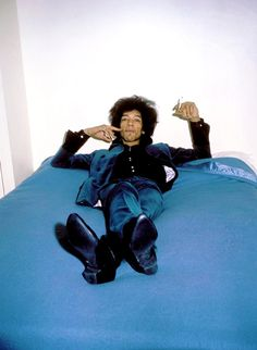 Jimi Hendrix photographed by Petra Niemeier, 1967