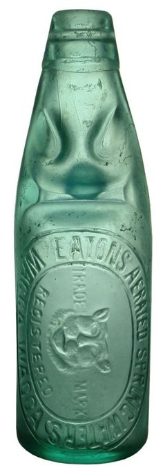 Auction 27 Preview   66   Eaton's Aerated Spring Waters Cats Head Wagga Wagga Bottle