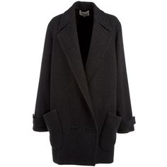 Wool Blend Coat (38,920 PHP) ❤ liked on Polyvore featuring outerwear, coats, jackets, tops, women, wool blend coat, chalayan and long sleeve coat