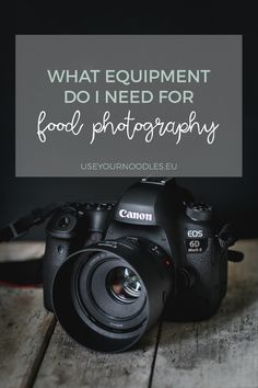 Today, I'm sharing a few food photography equipment essentials, that I feel are necessary to produce great shots. Food Photography Tips, Photography Equipment, Photography Business, Product Photography, Portrait Photography, Wedding Photography, Nikon Film Camera, Canon Cameras, Nikon Dslr