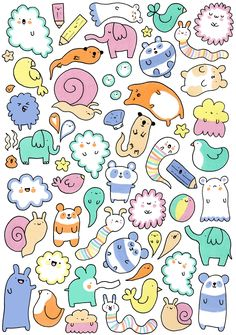 I would love to have these as stickers! Kawaii stickers... :)