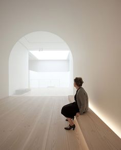 Installation by British architect John Pawson for his exhibition 'Plain Space' in the Design Museum London (2010/2011). I'm a longtime admirer of the work of John Pawson but the serene and contemplative atmosphere in this installtion far exceeded my expectations.