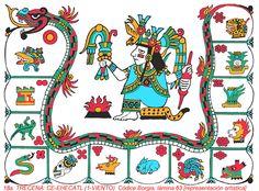 """TRECENA: CE-EHECATL (1-VIENTO) [Del 18 al 30 de Diciembre del 2015]   Tonalpohualli es el calendario Ritual o cuenta de las Trecenas.  (Equivalente a la """"semana"""" pero de 13 días)  [consiste de veinte trecenas, 20x13=260 días]  Esta Trecena: """"1-VIENTO"""" es la 18a. Trecena del Tonalpohualli. (Las trecenas siempre comienzan cuando el NUMERAL es """"1"""" y terminan cuando es """"13"""")"""