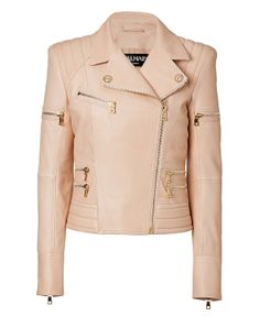 Shop now: Peach Biker Jacket