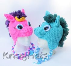 Crochet Circus Pony Hat.Made to order by KrazyHats2 on Etsy