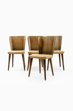 Early Carl Malmsten dining chair in pine wood at Studio Schalling