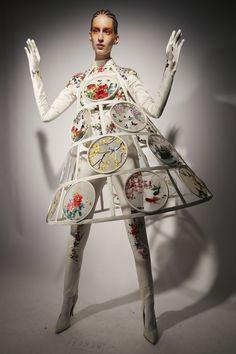 Jean Paul Gaultier at Couture Spring 2020 - Backstage Runway Photos Weird Fashion, Fashion Art, Editorial Fashion, Fashion Brands, High Fashion, Fashion Show, Fashion Textiles, Emo Fashion, Gothic Fashion
