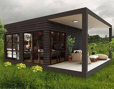 The Black Container House concept Casas Containers, My Design, Furniture Design, Behance, Profile, Concept, Interior Design, Architecture, Gallery