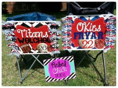 Personalized GAMEDAY Baseball Chair Signs #baseball #personalized #baseballmoms #football #soccer #softball #cheer #titans #okies