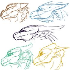 [WoF] Dragonet Sketches 2 by Mollish on DeviantArt