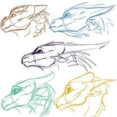 Dragonet Sketches 2 by Mollish on DeviantArt - . - Dragonet Sketches 2 by Mollish on DeviantArt – – - Drawing Techniques, Drawing Tips, Drawing Sketches, Drawing Ideas, Animal Sketches, Animal Drawings, Drawing Animals, Dragon Anatomy, Dragon Poses
