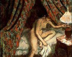 Retiring - Edgar Degas