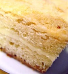 Fantastic Buttery Cream Cheese Coffee Cake ~ This cake is buttery delicious, it has a cream cheese layer in the middle and topped with a crumb topping
