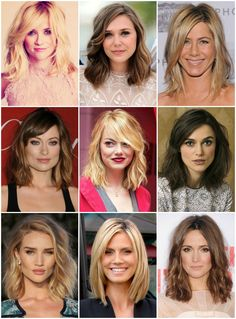 "[[MORE]]Note to Self: The ""clavicut""–a long bob that ends at the clavicle–is a really great cut for square-jawed faces (like mine)! Just look at all these beautiful examples! From left: Reese..."