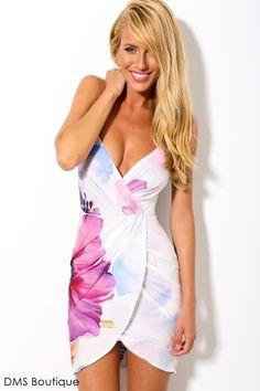 Vestido Estampado Assimétrico - Vestidos | DMS Boutique