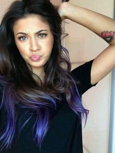 Dyed tips - Ignore duck face