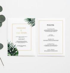 Botanical Vibes - Bryllupsinvitasjoner – HeyPaperie AS